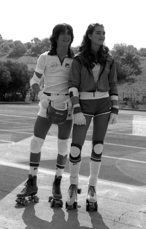 Скотт Байо и Брук Шилдс на конкурсе Celebrity Challenge of the Sexes в Калифорнии, март 1980
