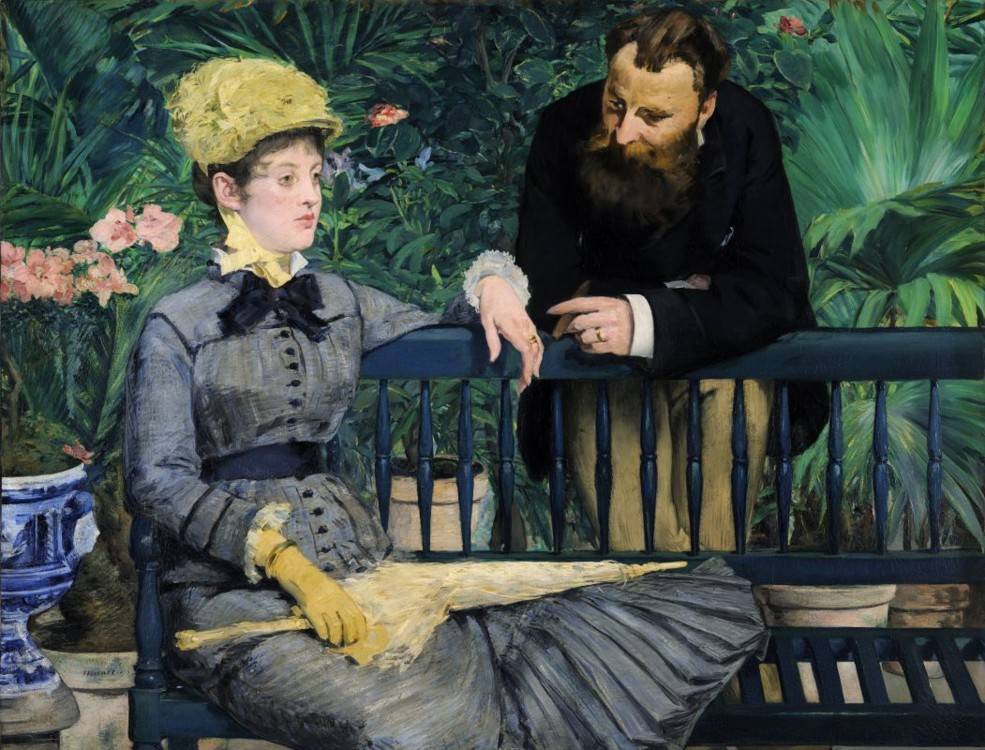 «В оранжереї», 1879 (Стара національна галерея, Берлін)