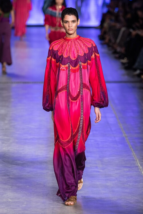 Платье с градиентом Alberta Feretti