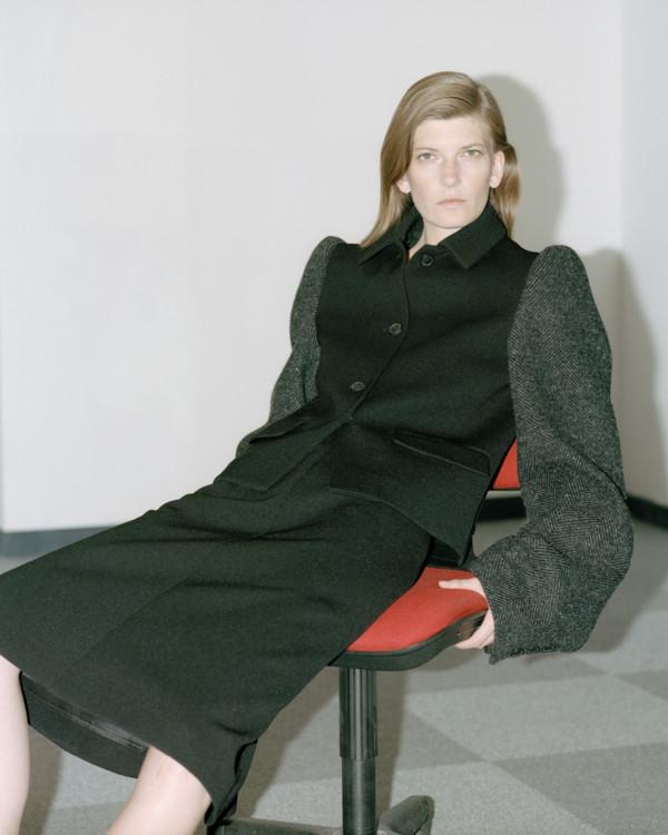 Шерстяной жакет, шерстяная юбка, все – Maison Margiela