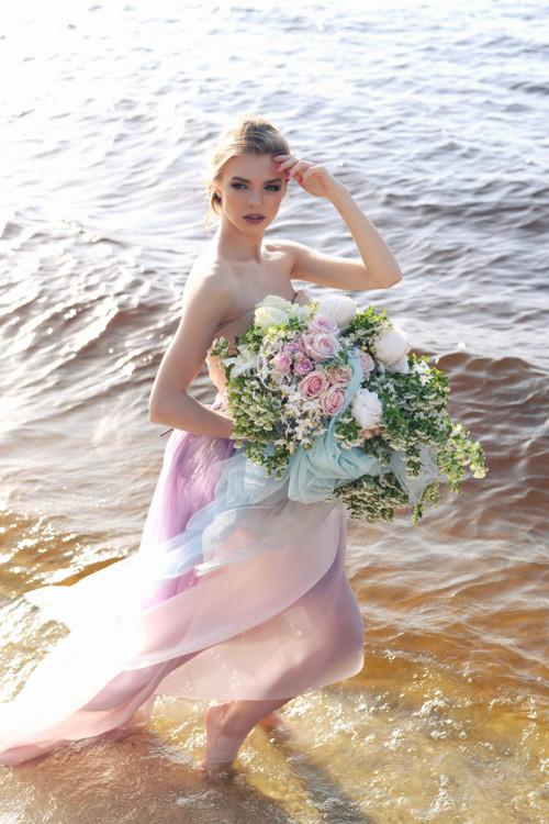 """Летняя коллекция букетов """"Афродита"""", цветочная мастерская LoraShen"""