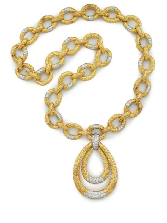 Кольє-трансформер з платини і золота з діамантами Van Cleef & Arpels