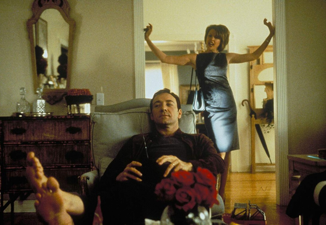 Кевін Спейсі і Аннетт Бенінг у фільмі «Краса по-американськи», 1999