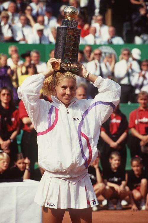Моника Селеш в Берлине в 1990 году