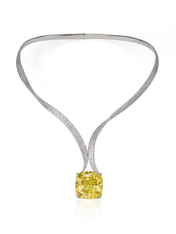 Enigma Necklace, бриллиант в 74,49 карат, платина