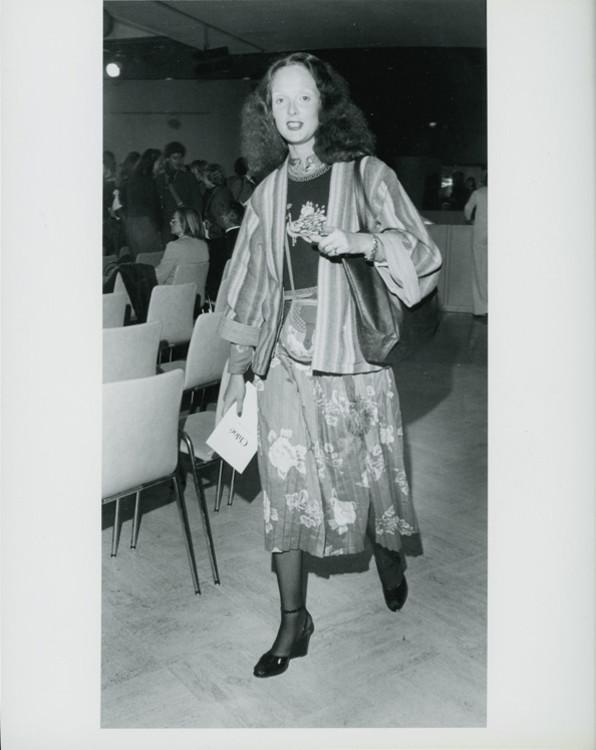 Грейс Коддингтон на модном показе, 1975