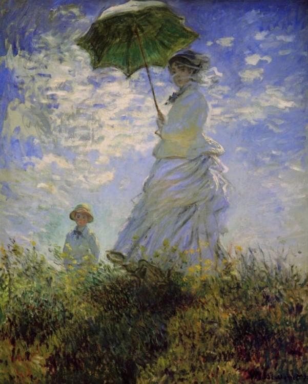 «Жінка з парасолькою (Камілла Моне з сином Жаном)», 1875