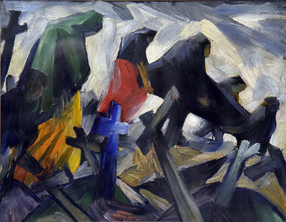 «Похороны», 1920 (Национальный художественный музей Украины)