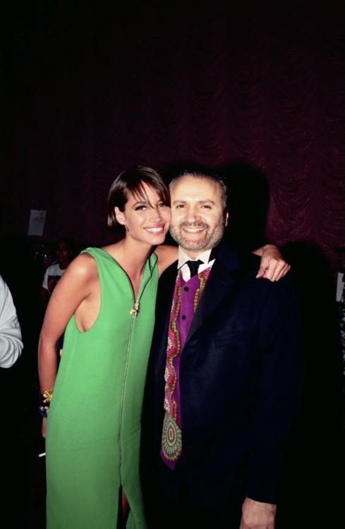 Кристи Тарлингтон и Джанни Версаче, 1991