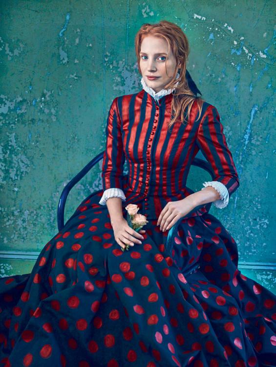 Джессіка Честейн очима Анні Лейбовіц, зйомка для американського Vogue