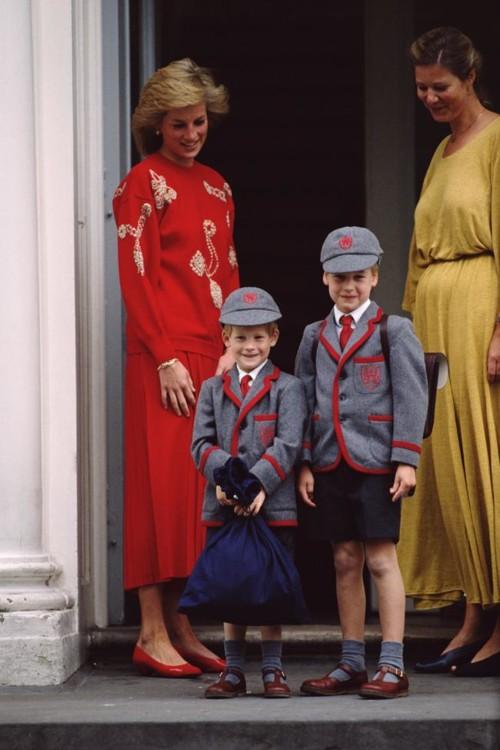Принц Гарри и принц Уильям, 1987