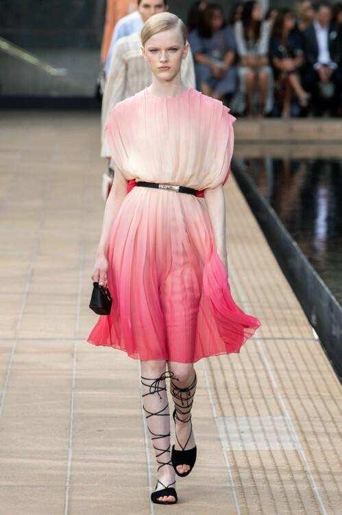 Платье с градиентом Longchamp