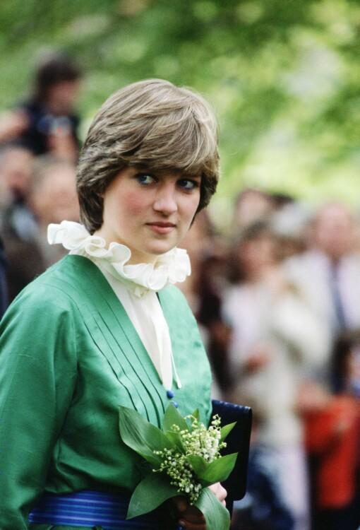 1981. Будущая Леди Диана, невеста Принца Чарльза, со стрижкой-паж, которую копировали по всему миру