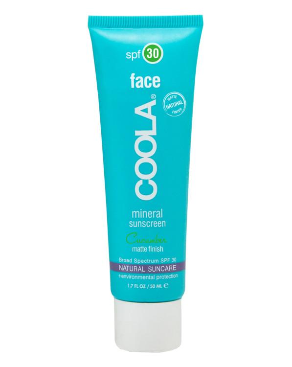 Увлажняющее средство с антиоксидантами и физическими солнечными фильтрами для лица Cucumber, COOLA, SPF 30