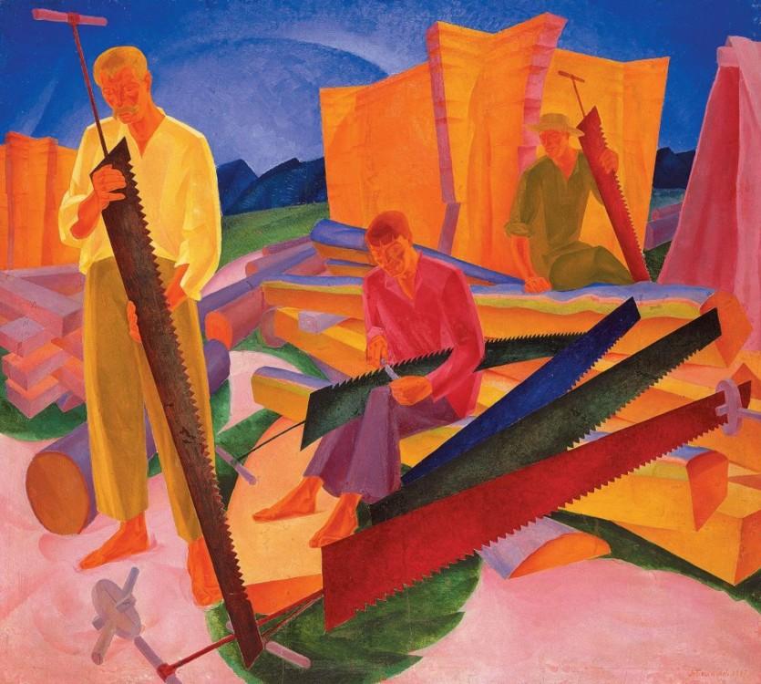 «Правка пил», 1927 (Национальный художественный музей Украины)