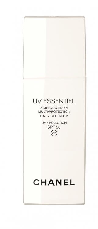 Средство для ежедневного ухода за кожей c функцией защиты от ультрафиолетовых лучей UVA и UVB и свободных радикалов, с минеральными и химическими фильтрами, SPF 50+, UV Essentiel, Chanel