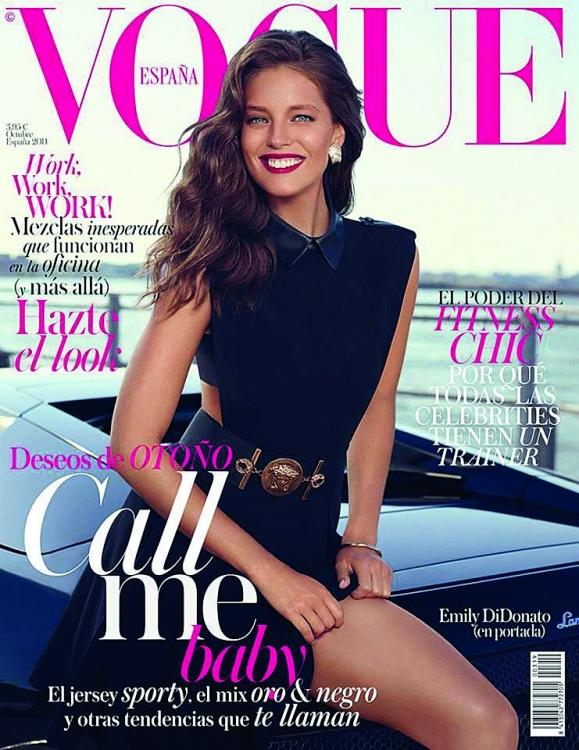 Обложка испанского Vogue España, фотограф: Мигель Ревириего, октябрь 2014