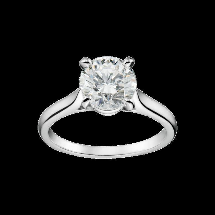 Кольцо Cartier платина и бриллиант