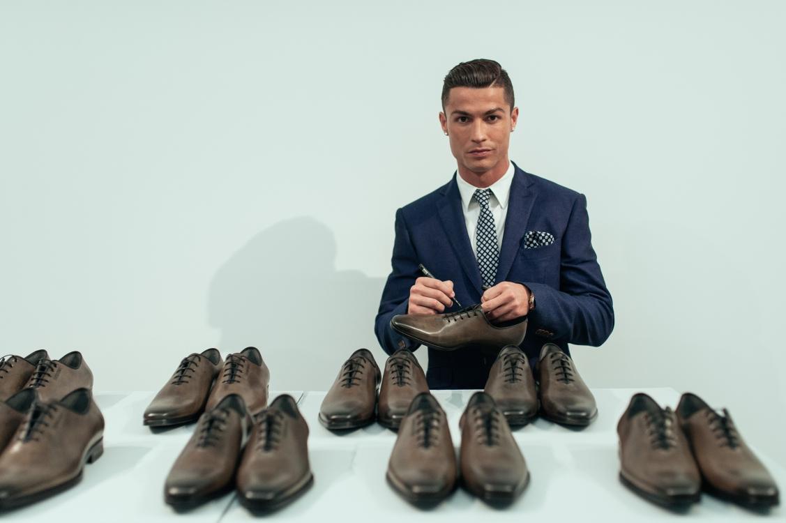 Криштиану Роналду на запуске собственной коллекции обуви CR7 осень-зима 2015/2016 в Португалии