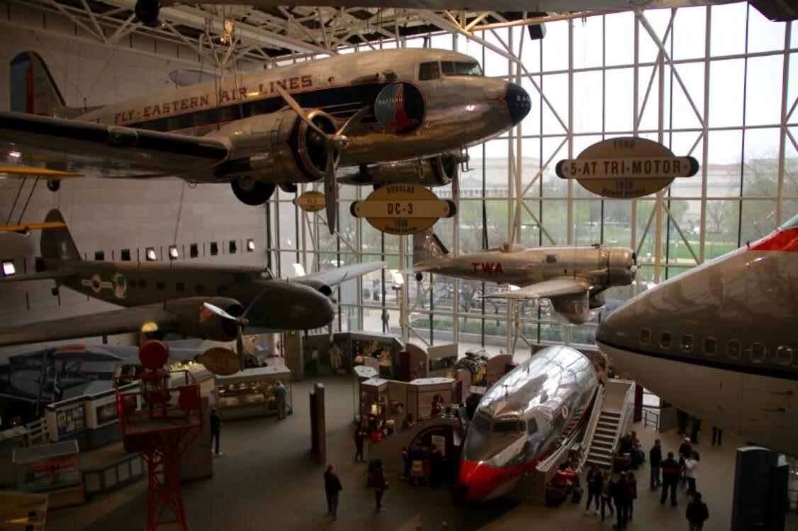 Национальный музей воздухоплавания и астронавтики, Вашингтон, США (6 200 000 посетителей в 2018 году)