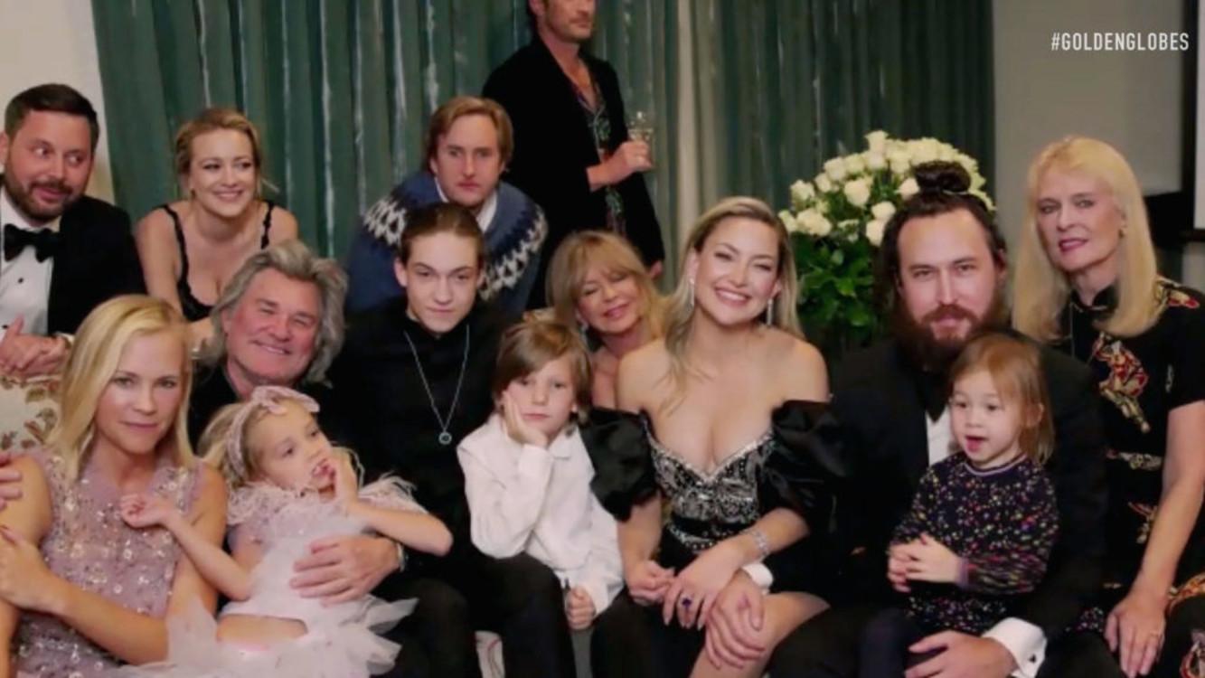 Кейт Хадсон с семьей
