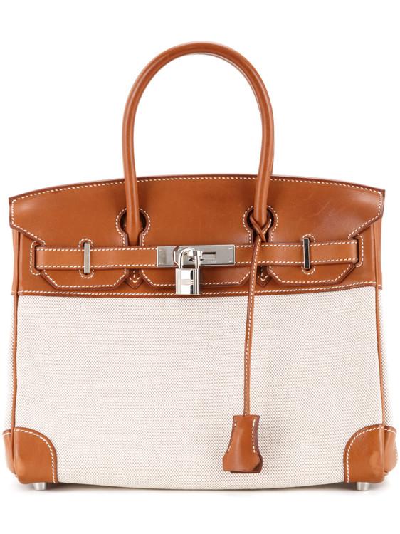 Сумка-тоут Birkin из парусины и кожи, Hermès Vintage