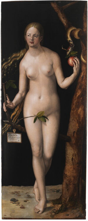 """""""Єва"""", диптих """"Адам і Єва"""", 1507; музей Прадо"""