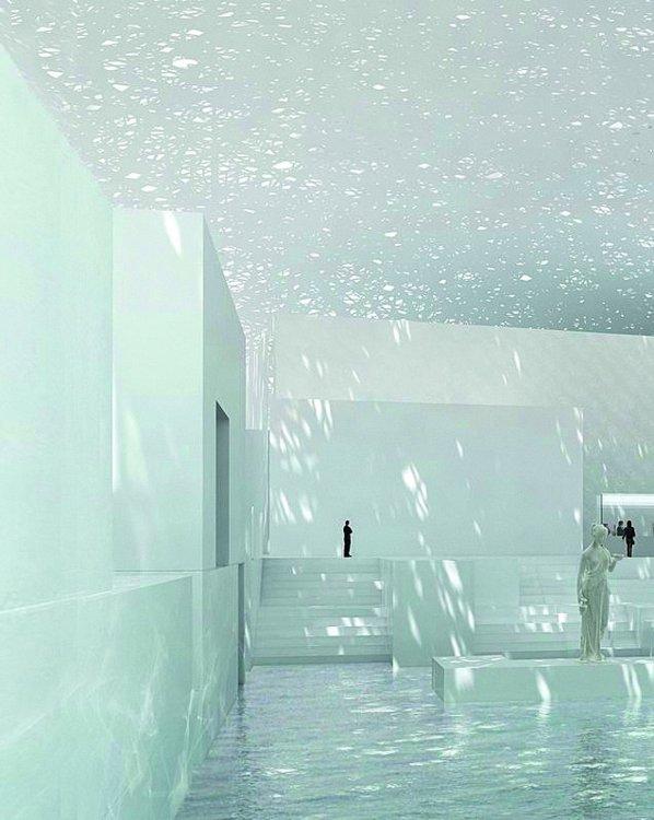 Визуализация интерьера Лувра в Абу-Даби, архитектор Жан Нувель