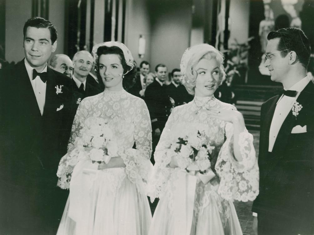 """Джейн Рассел и Мэрилин Монро в """"Джентльмены предпочитают блондинок"""", 1953"""