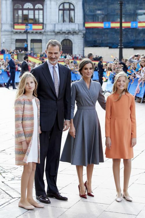 Королева Летиция с семьей
