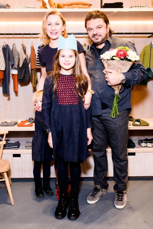 Ольга Козловская с семьей