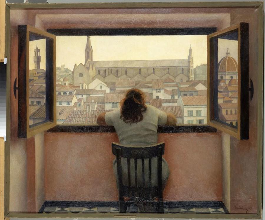 """""""Вечер. Старая Флоренция"""", 1973 год (в коллекции Третьяковской галереи)"""