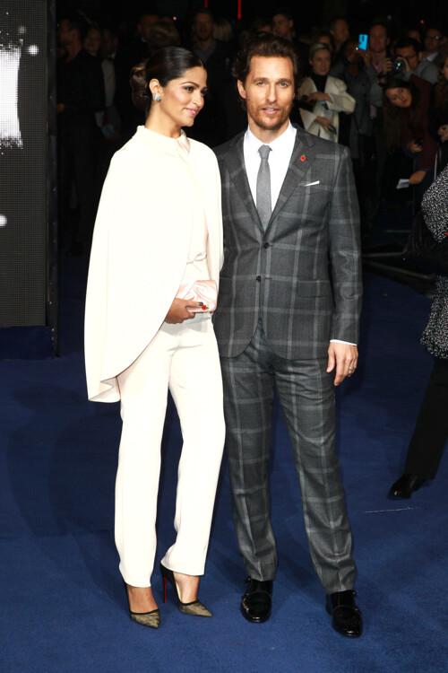 Камила Алвес и Мэттью Макконахи на британской премьере фильма «Интерстеллар», 2014
