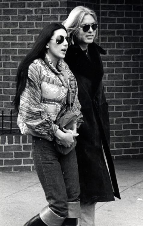 Шер и Грегг Оллман в Вашингтоне, 21 января 1977 года