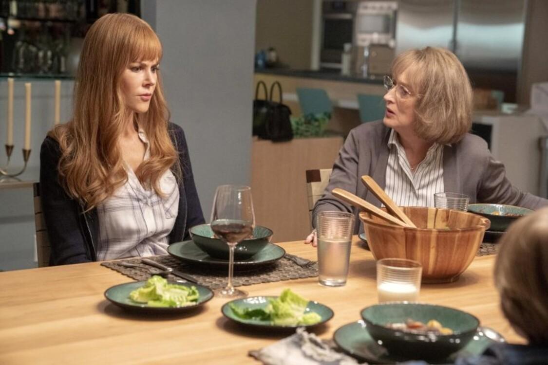 Ніколь Кідман і Меріл Стріп у серіалі «Велика маленька брехня»