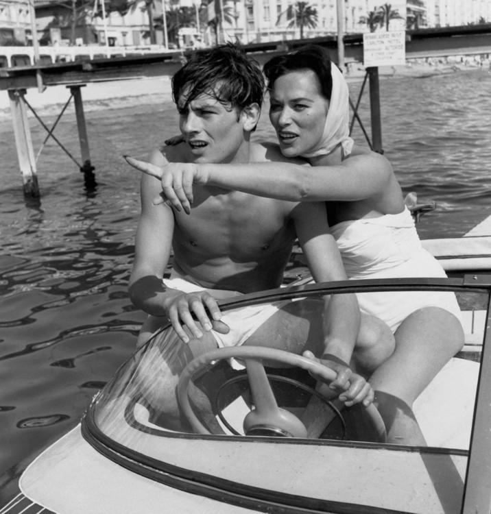 Ален Делон и Белла Дарви в 1958