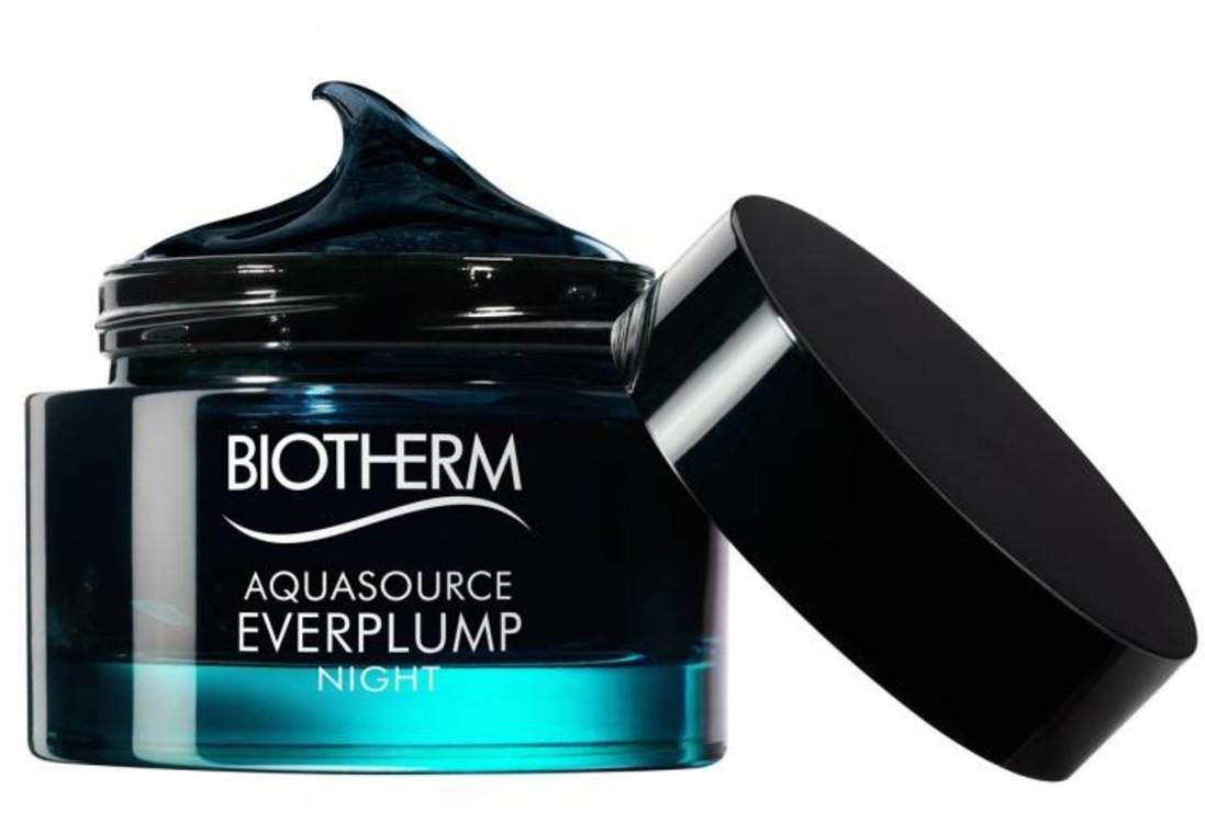 Нічна маска, що відновлює пружність шкіри, Aquasource Everplump Night, Biotherm, з ефектом другої шкіри. Допомагає відновити природний бар'єр і запобігти втраті вологи. У складі - екстракт темних водоростей