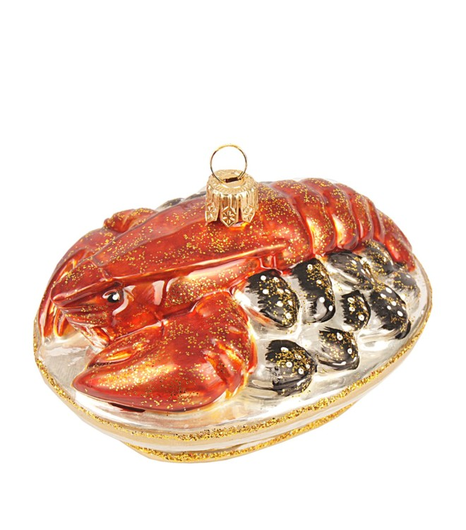 Елочная игрушка-блюдо с омарами и мидиями, Harrod's