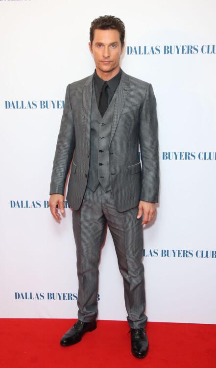 Мэттью Макконахи на британской премьере фильма «Далласский клуб покупателей», 2014