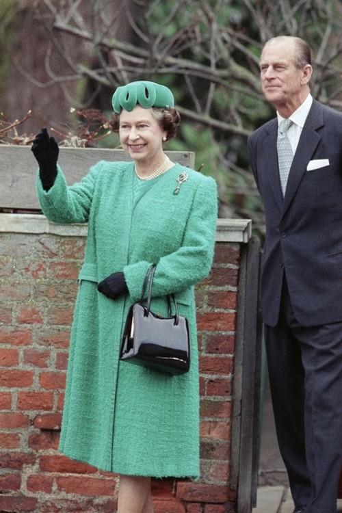 Єлизавета II і принц Філіпп, 25 грудня 1987 р.