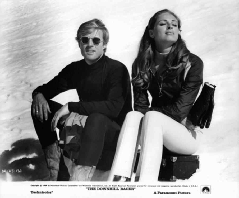 """Роберт Редфорд  и Камилла Спарв на съемках фильма """"Скоростной спуск"""", 1969 год"""