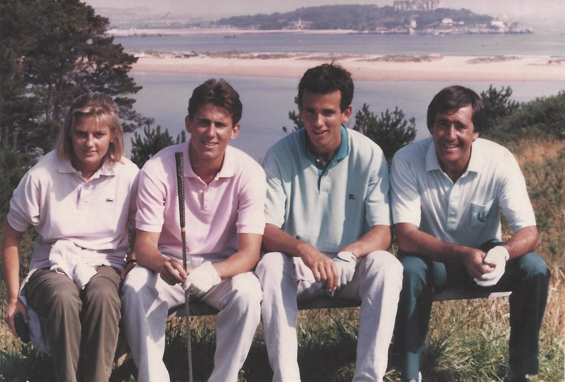 Дети д'Орнано - Элизабет, Марк, Эмилио и испанский чемпион по гольфу Севе Баллестрос. Марк погиб в 20 лет в автокатастрофе