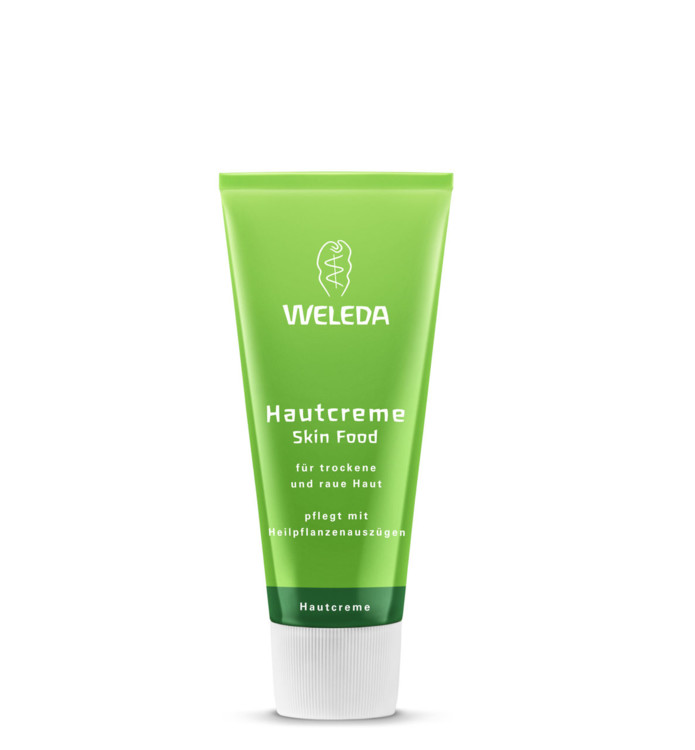 Універсальний живильний крем Skin Food, Weleda: зволожує шкіру і робить її м'якою, оксамитовою. У складі: екстракти лікарських рослин, органічні есенції, витяжки фіалки, календули і ромашки, які посилюють захисний бар'єр