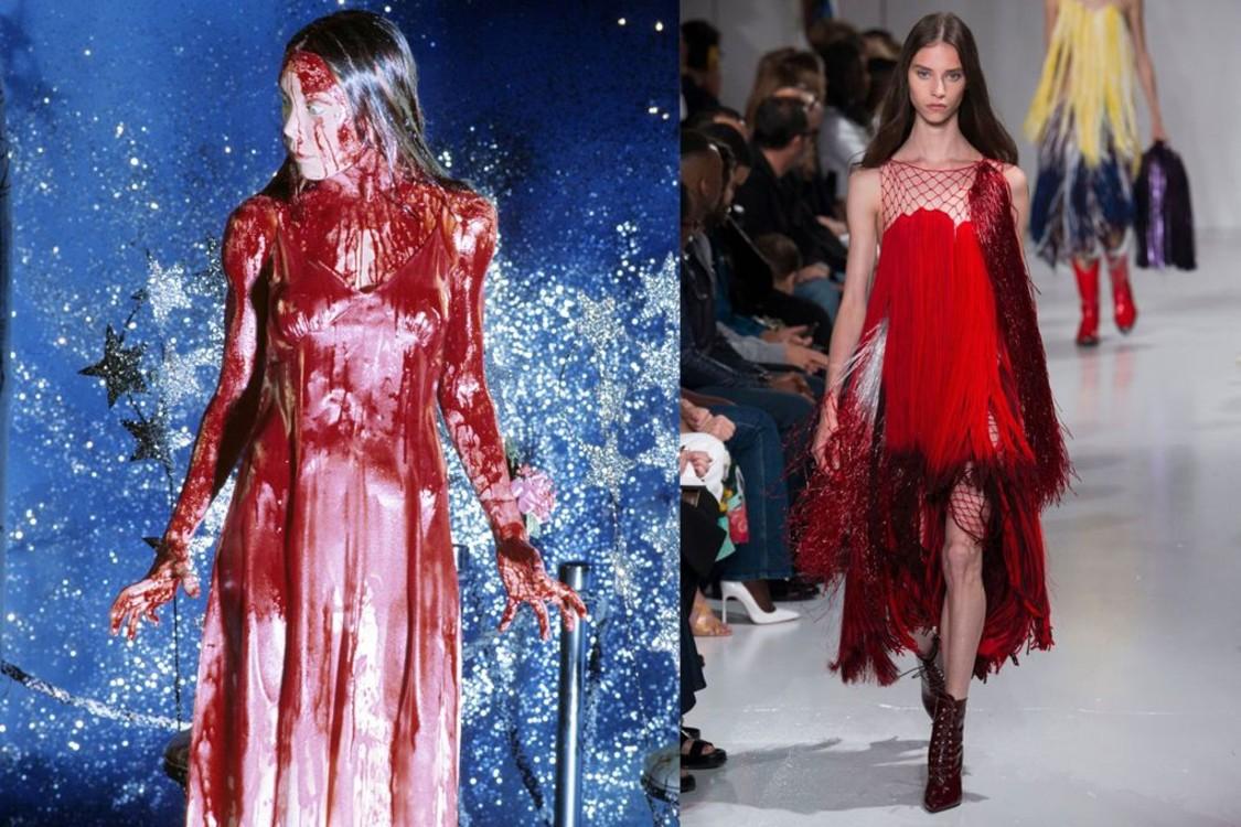 """Кадр из фильма """"Кэрри"""" и Calvin Klein весна-лето 2018"""