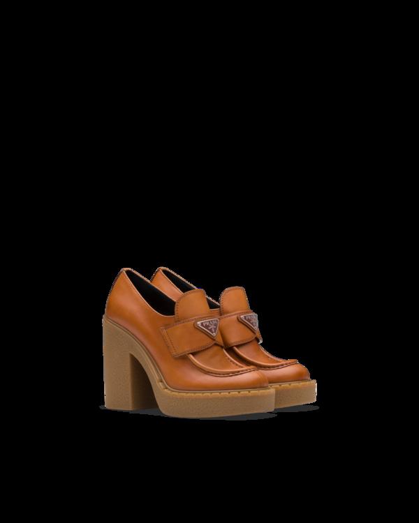 Лоферы на каблуке Prada Pre-Fall 2020