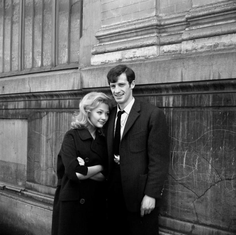 """С актрисой Кристин Кауфманн на сїемках фильма """"Месть марсельца"""", 1961"""