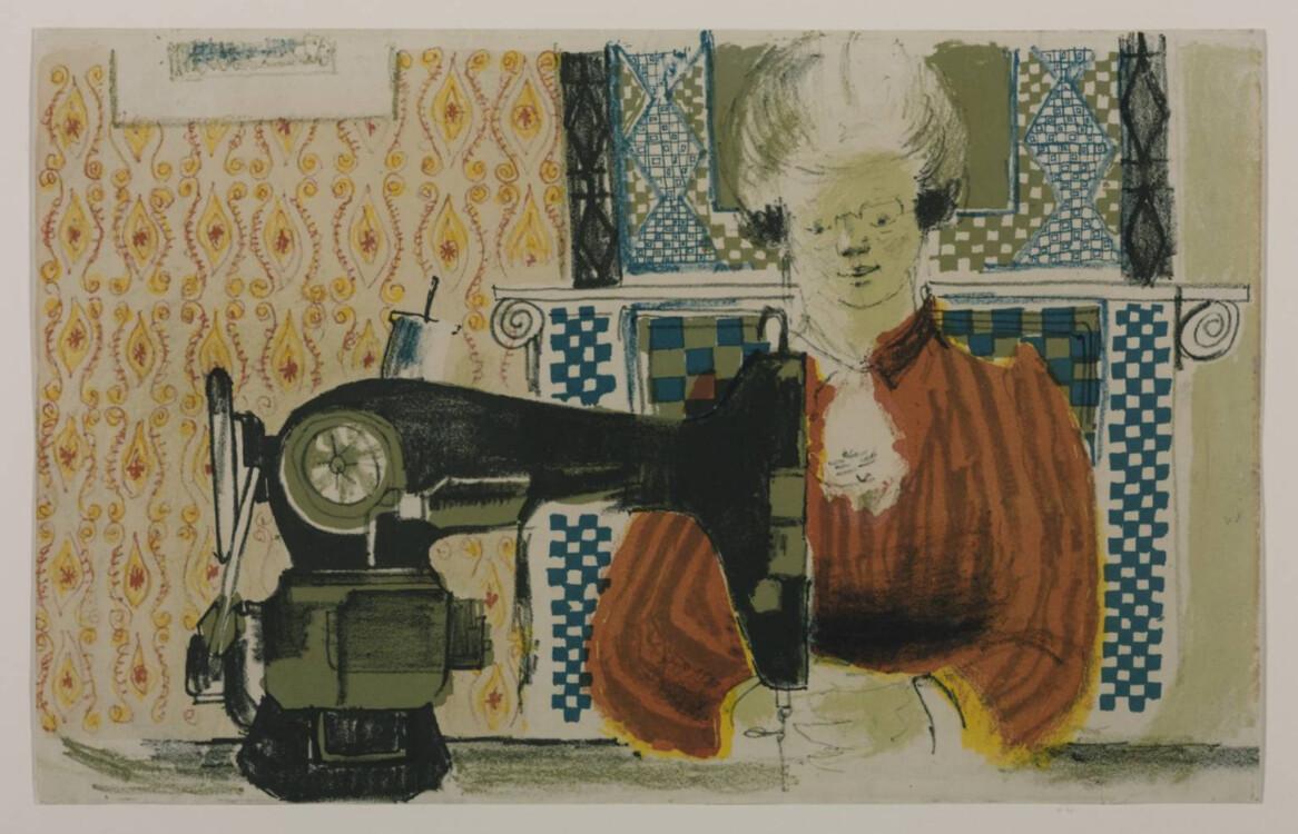 «Жінка за швейною машинкою», 1954