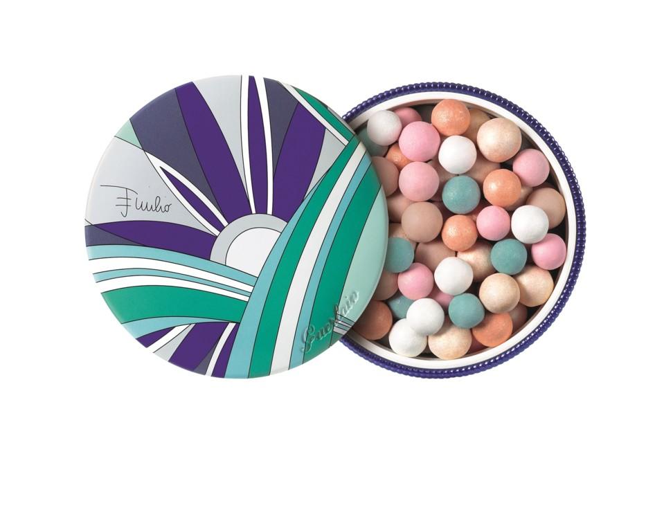 Пудра в шариках Météorites D'Azur, выпущенная в коллаборации с Emilio Pucci, лимитированный выпуск, 2012, Guerlain