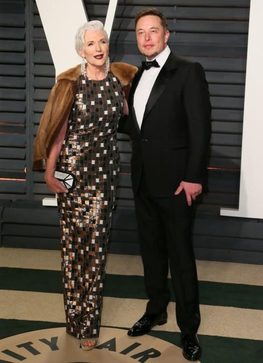 Илон Маск с матерью, известным диетологом и моделью Мей Маск