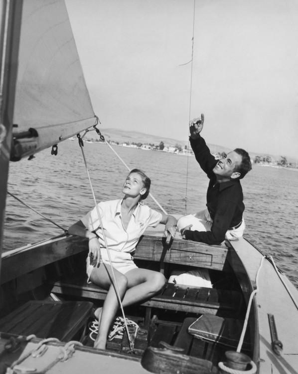 Лорен Бэколл и Хамфри Богарт, 1945 год